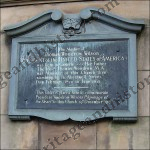 Plaque on building in Lowther Street. Carlisle