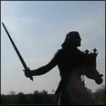 King Edward I - Statue. Burgh by Sands