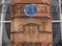 John Wesley plaque.