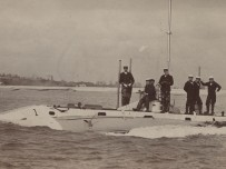 The official title for this class was HM Submarine Torpedo Boat, followed by a number. - Pic Royal Navy Submarine Museum