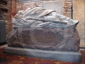 John Rae is buried in St Magnus Cathedral, Orkney