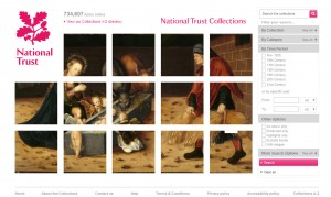 National Trust Collections online homepage - Pic NT