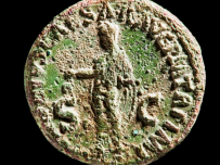 Roman coin (English Heritage copyright/On loan from Salisbury & South Wiltshire Museum)